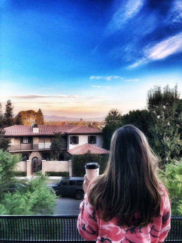 Woman enjoying the views in Sherman Oaks, California. | 1 Week in Los Angeles, California