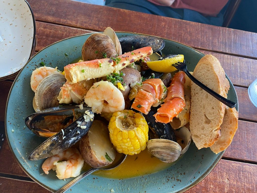 Plate of seafood.   Where to Eat in Key West