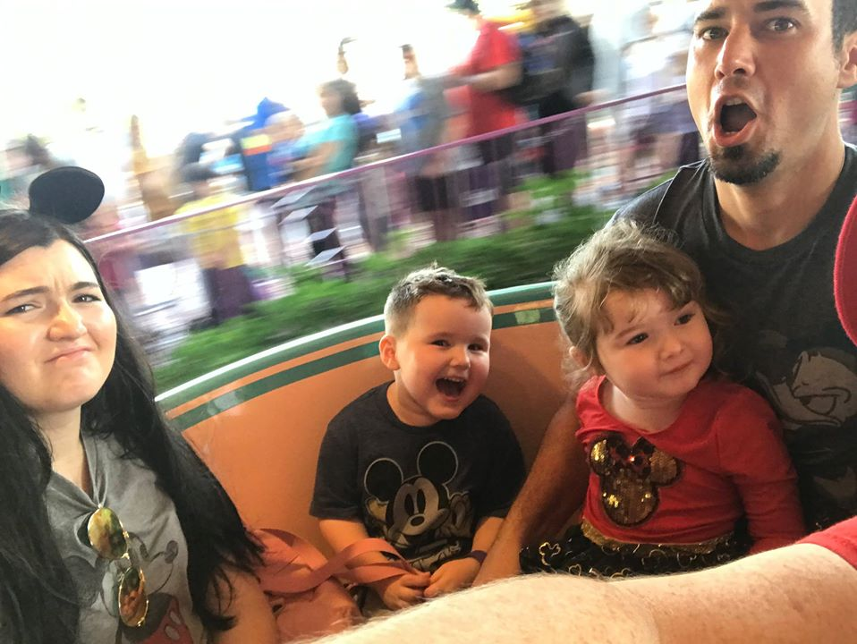 Family riding world tea cups ride at Disney World.   Disney World- What you need to know.
