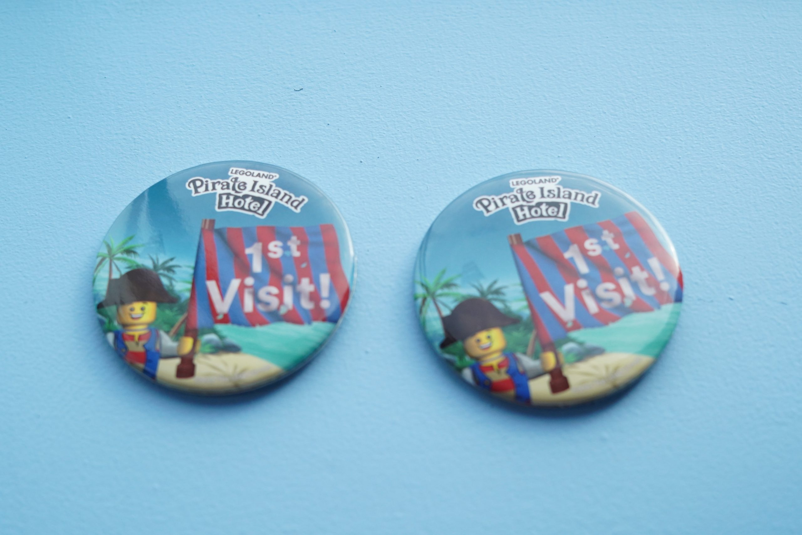 Two Pirate Island Hotel 1st visit pins.   A Guide to LEGOLAND Hotels in Florida