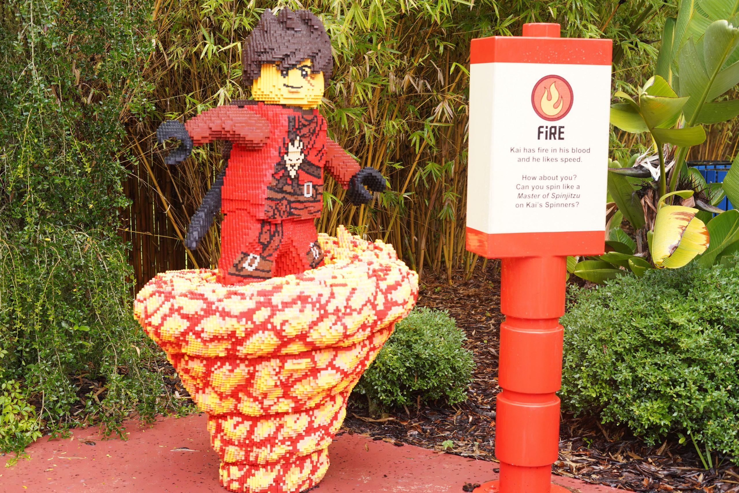Ninjago lego figurine at LEGOLAND. | Guide to LEGOLAND Florida