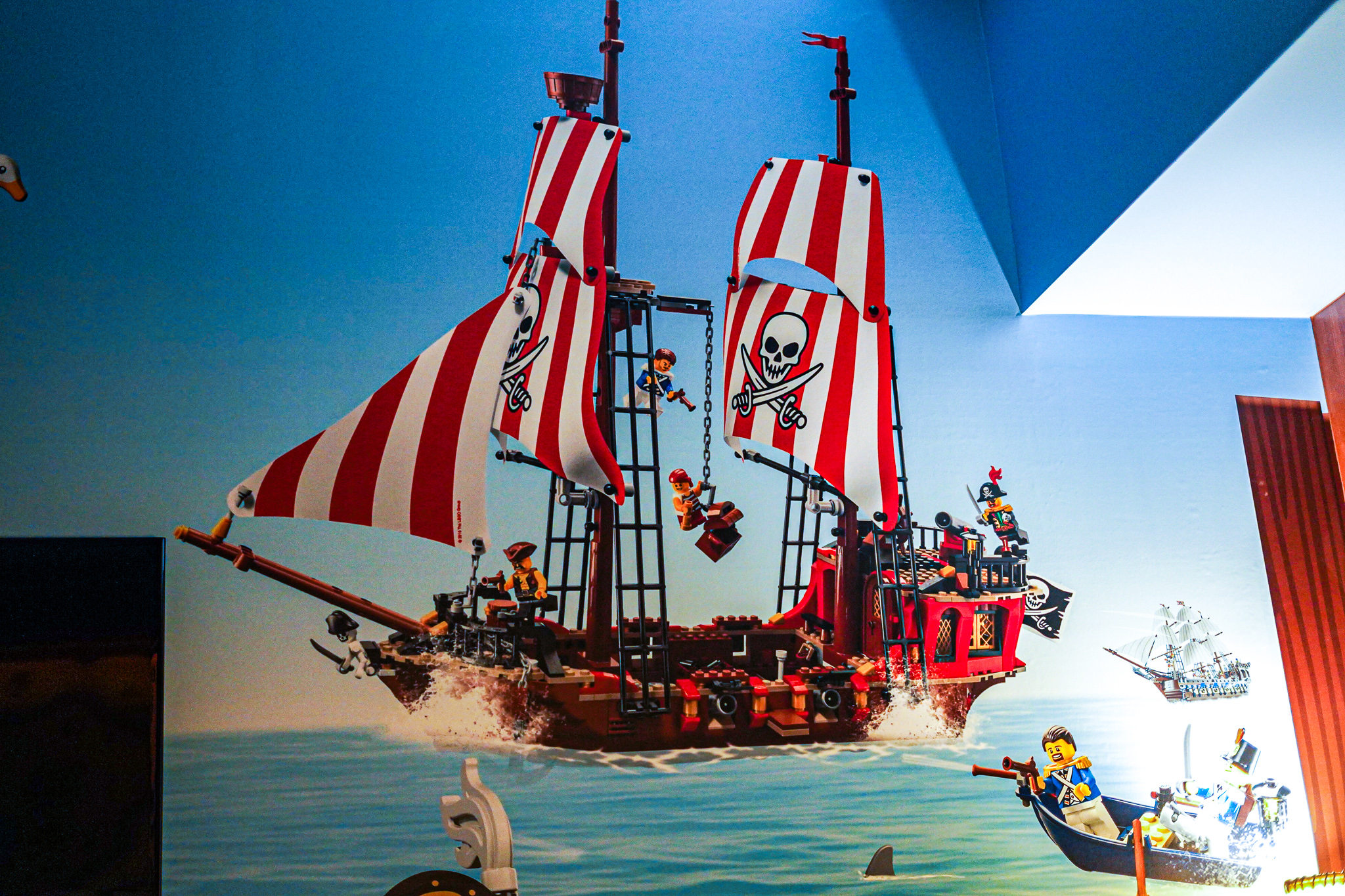 Lego pirate wall decor.  A Guide to LEGOLAND Hotels in Florida