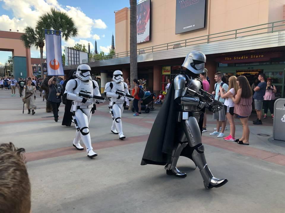 Star Wars characters walking in parade down road at Disney World.   Disney World- What you need to know.