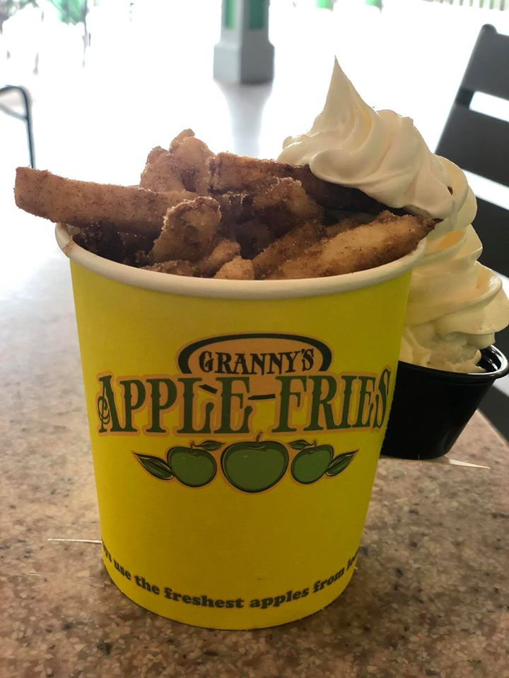 Cup of Granny's Apple Fries at LEGOLAND. | Guide to LEGOLAND Florida