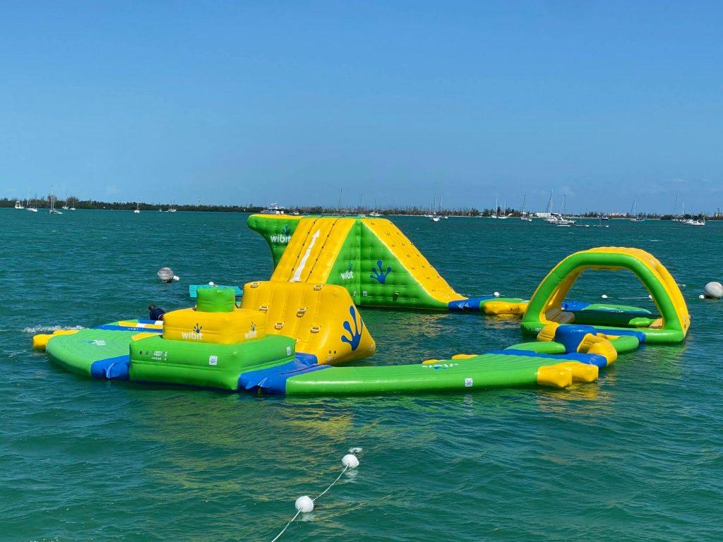 Bouncy floating water park in the ocean in Key West | Fury Water Adventures in Key West