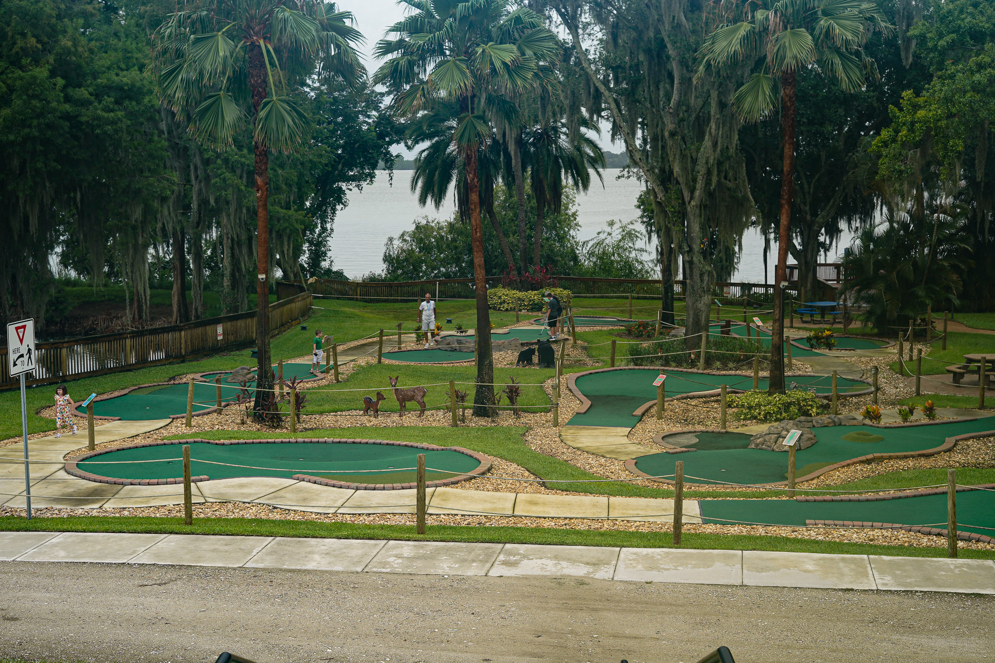 Mini golf course at Pirate Island Hotel.   A Guide to LEGOLAND Hotels in Florida