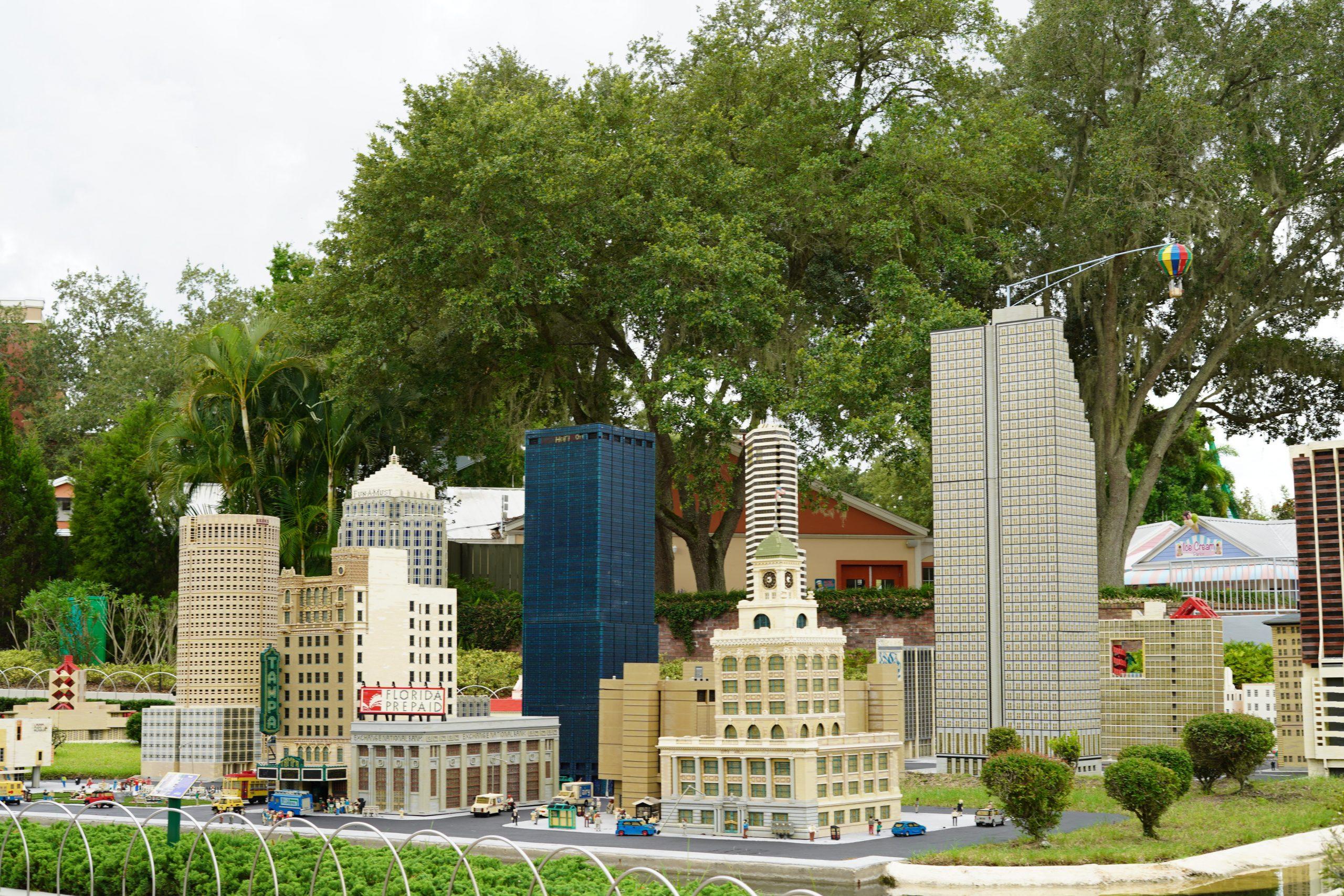 Lego city of Tampa in Miniland in LEGOLAND.  | Guide to LEGOLAND Florida