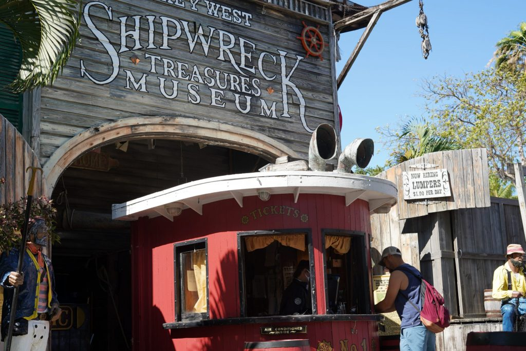 Shipwreck Treasures Museum front ticket counter in Key West. | What you to need to know about Key West